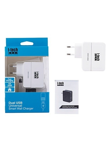 2 Port Universal USB SmartPower  Şarj Cihazı-I-Tech Gear